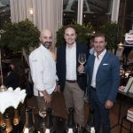 Another Ferrari toast at the opening of Niko Romito's Spazio at Eataly in Rome