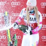 The American skier, Lindsey Vonn, Goes Big at Cortina