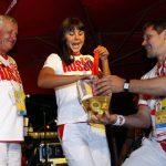 Felicità è …….. battezzare la medaglia olimpica nel Ferrari