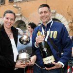 Bagnato dalle bollicine Ferrari il trionfo a Praga in Champions League dei pallavolisti trentini