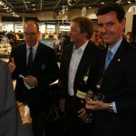 Ferrari bubbles celebrate the presentation of the ecological supercar, Fisker Karma, in Montecarlo