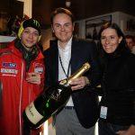 Brindisi Ferrari a Wrooom per le scuderie Ducati e Ferrari
