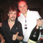 E Alonso brinda con Ferrari anche al Wrooom estivo