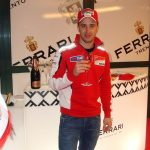 At Wrooom relax with Ferrari sparkling wine: Alonso, Massa, Hayden and Dovizioso