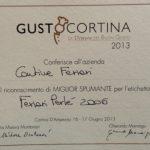 A GustoCortina il Ferrari Perlé 2006 incoronato per le migliori bollicine italiane