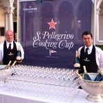 Toasting with Ferrari and drinking  the great Lunelli red wines at the S.Pellegrino Cooking Cup in Venice