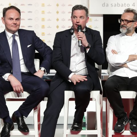Matteo Lunelli, William Drew, Massimo Bottura