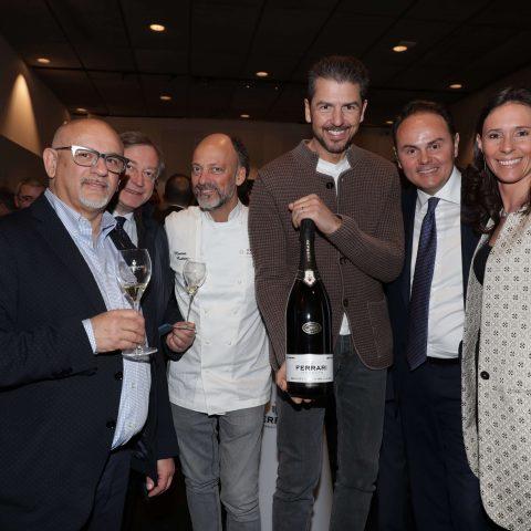 Claudio Sadler, Moreno Cedroni, Andrea Berton, Matteo Lunelli, Camilla Lunelli