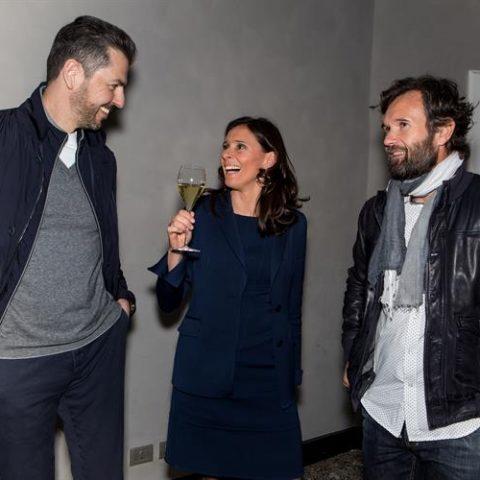Chef Andrea Berton, Camilla Lunelli e chef Carlo Cracco
