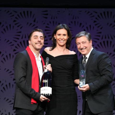 Jordi e Joan Roca de El Celler de Can Roca con Camilla Lunelli