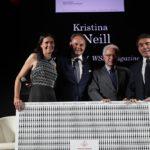 Camilla e Matteo Lunelli con Paolo Panerai e Duilio Giammaria