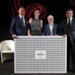 Matteo e Camilla Lunelli con Antonio Rizzolo e Duilio Giammaria