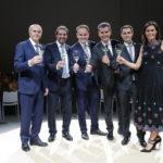Mauro Lunelli, Beniamino Garofalo, Matteo, Marcello, Alessandro und Camilla Lunelli