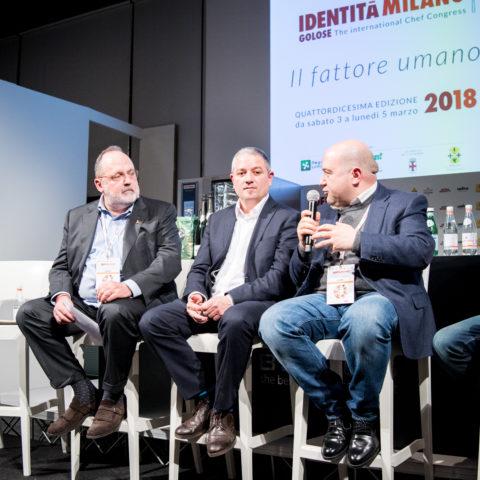 Alessandro Pipero e Giuseppe Palmieri con Paolo Marchi