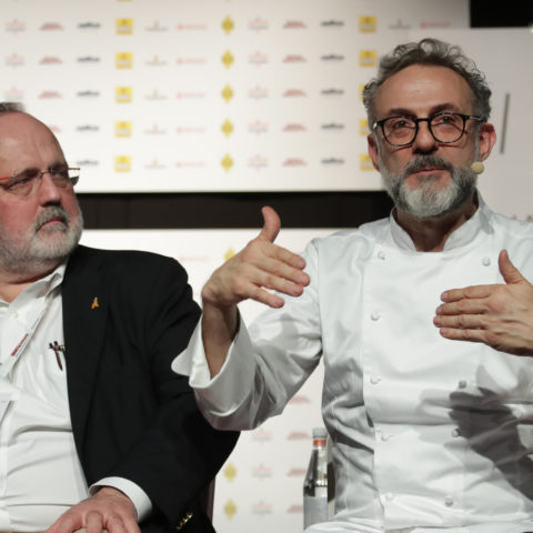 Massimo Bottura during the panel dedicated to the Art of Hospitality
