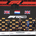The first podium for Ferrari Trento at Imola as the official sparkling wine of Formula 1®